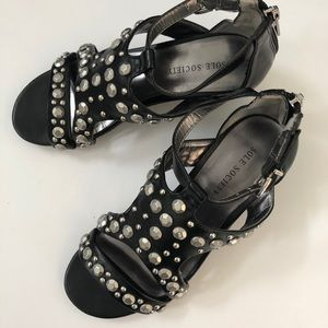 Soul Society Shoes Studded Sandals 5.5
